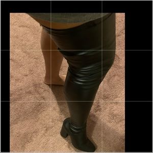 Leather super thigh high boots